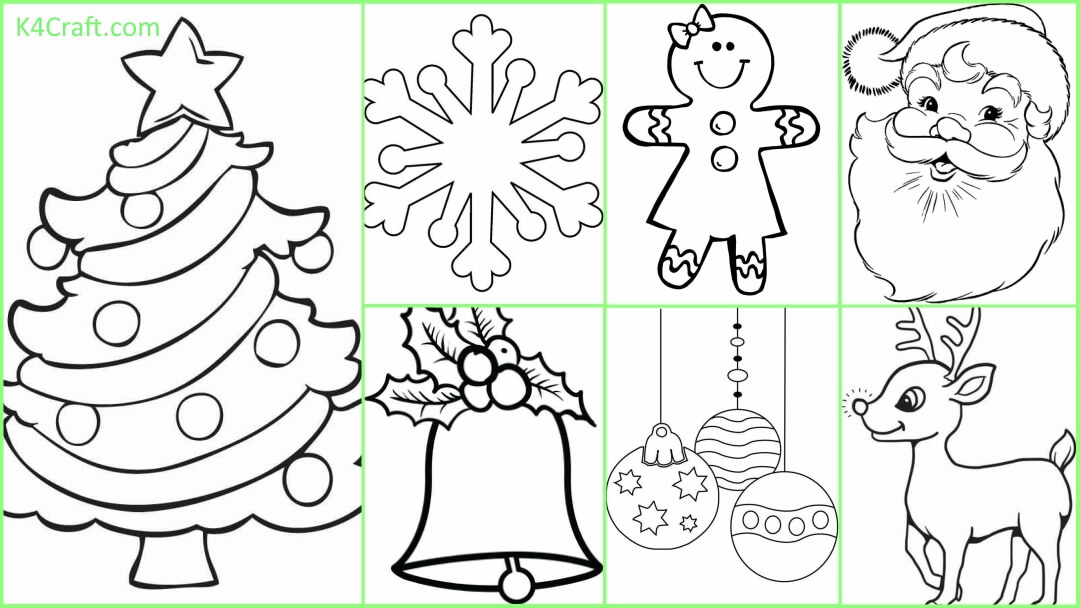 Free Printable Christmas Coloring Pages For Preschoolers - Kids Art & Craft