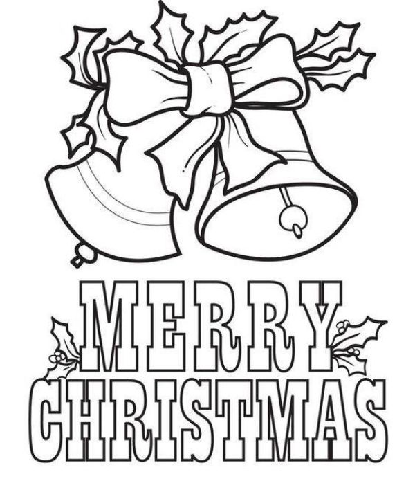 Free Printable Coloring Pages for Kids of All Ages Merry Christmas Bells For Your Kids