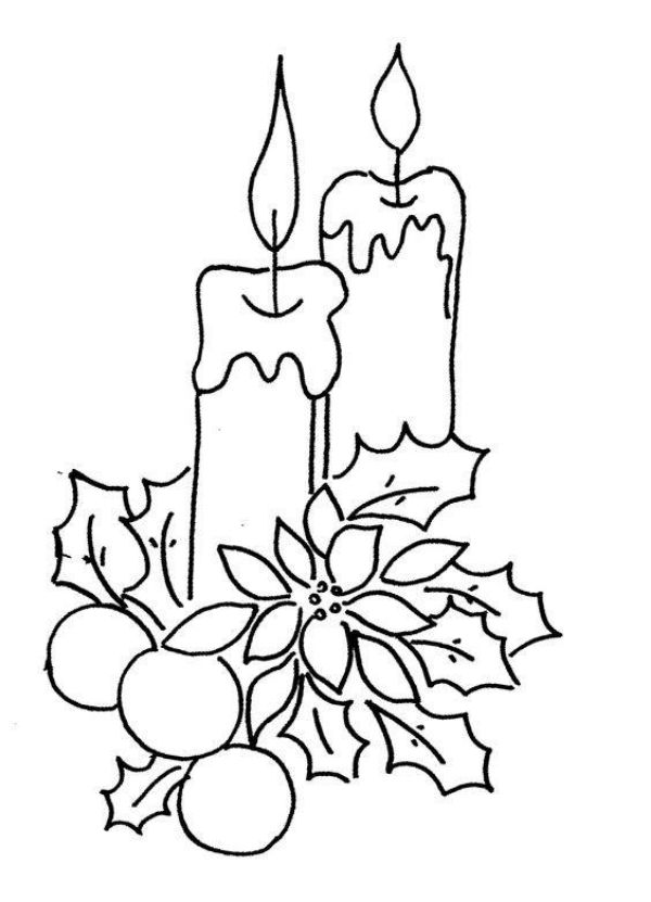 A Candle Coloring Picture