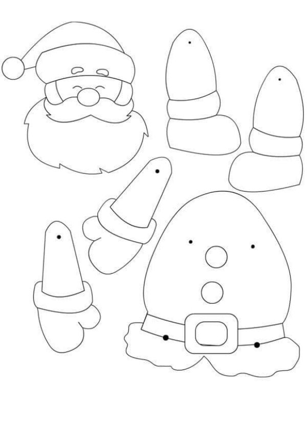 A Santa Claus And Hat Coloring Page