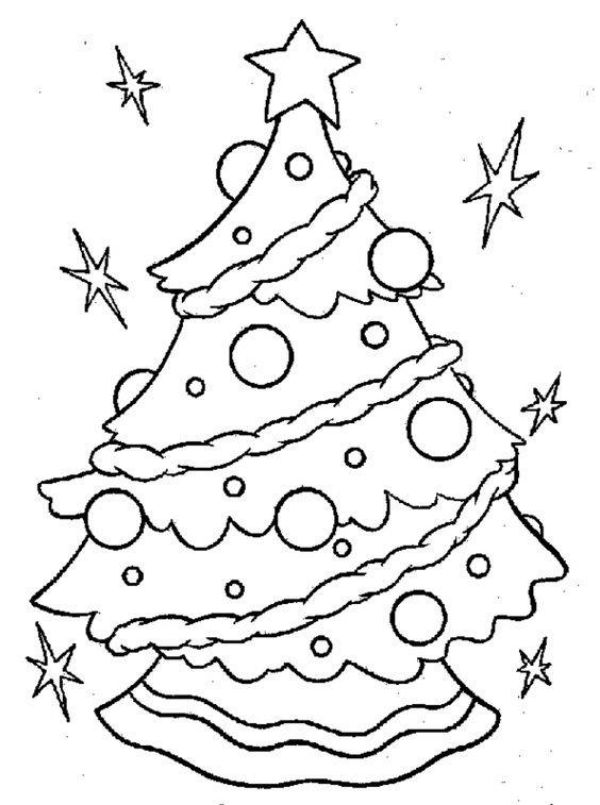 Free Printable Coloring Pages for Kids of All Ages An Adorable Christmas Tree For Coloring