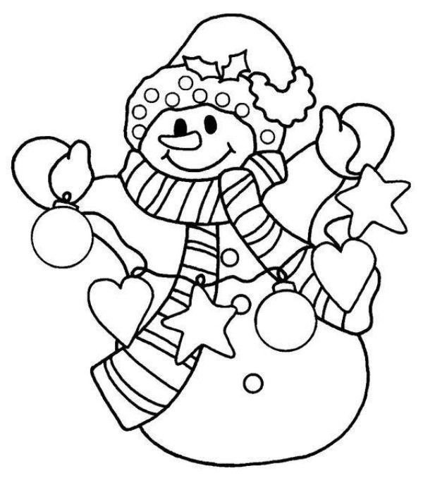 Free Printable Coloring Pages for Kids of All Ages An Adorable Snowman Coloring Picture