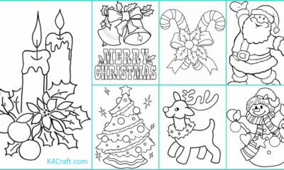 Free Printable Christmas Coloring Pages For Preschoolers Kids Art Craft