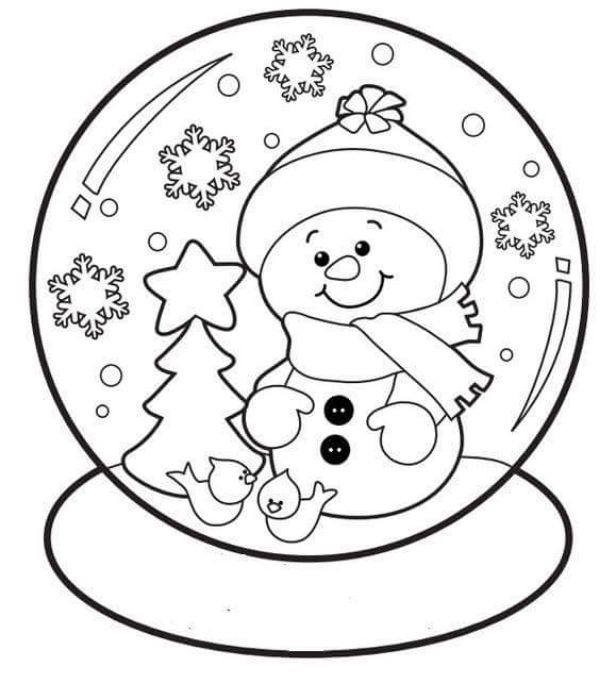 Free Printable Coloring Pages for Kids of All Ages A Beautiful Snowball Coloring Paper With Snowman In It