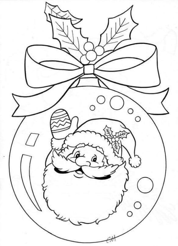 Free Printable Coloring Pages for Kids of All Ages A Beautiful Ball Snowball of Christmas Coloring Picture