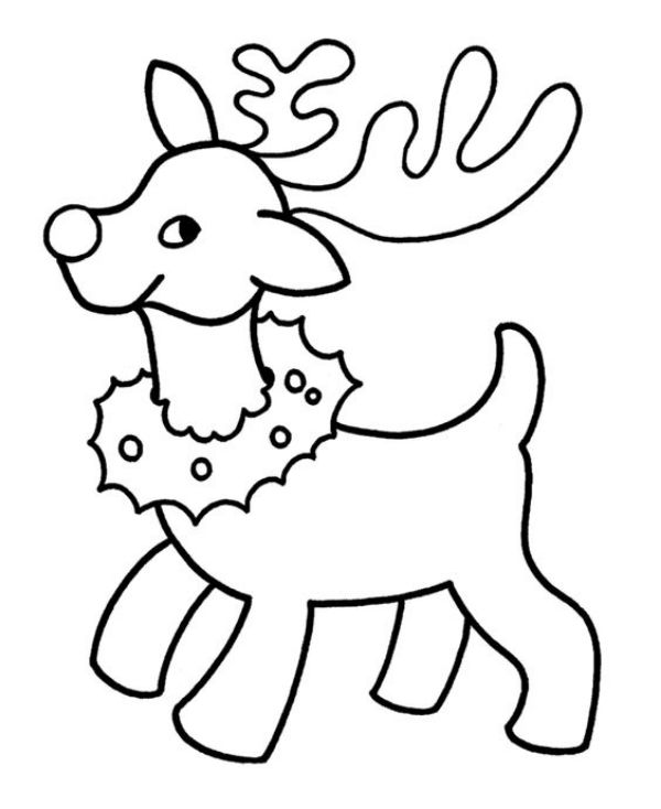 Free Printable Coloring Pages for Kids of All Ages A Coloring Picture Reindeer