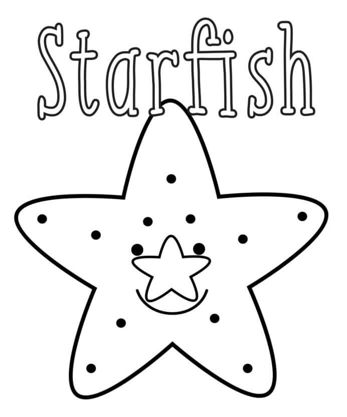 Easy and Interesting Sea Animal Coloring Pages for Kids Starfish Coloring