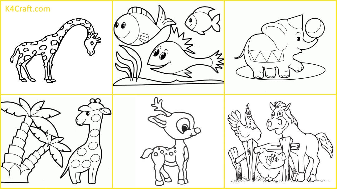 Animal Coloring Pages For Kids - Kids Art & Craft
