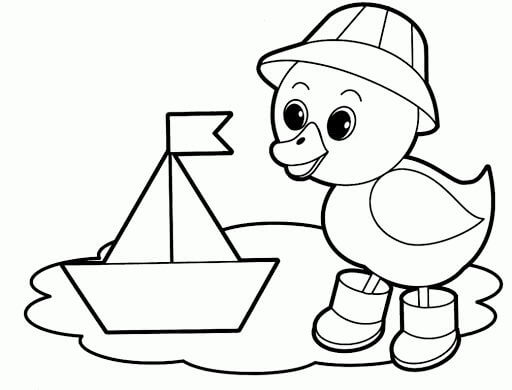 Baby Duck Animal Coloring Printables for Kids