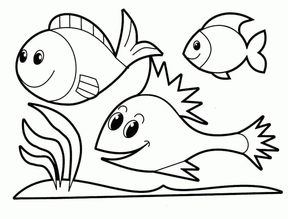 Nature and Wildlife-Animal Coloring Pages for Kids Fishes of The Sea