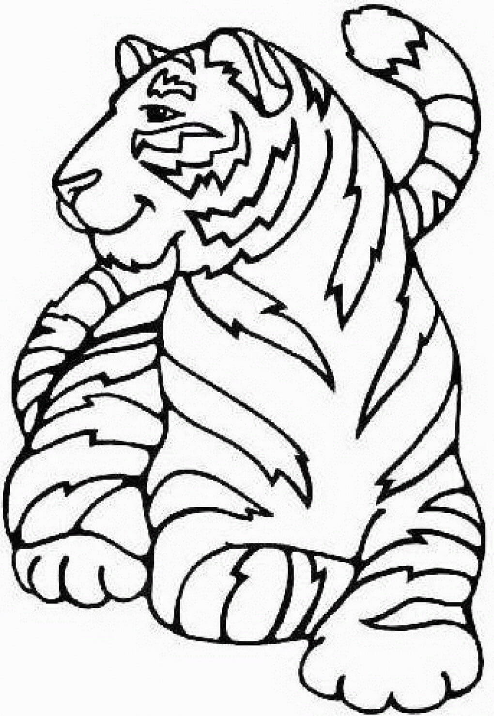 Nature and Wildlife-Animal Coloring Pages for Kids Tiger of The Jungle