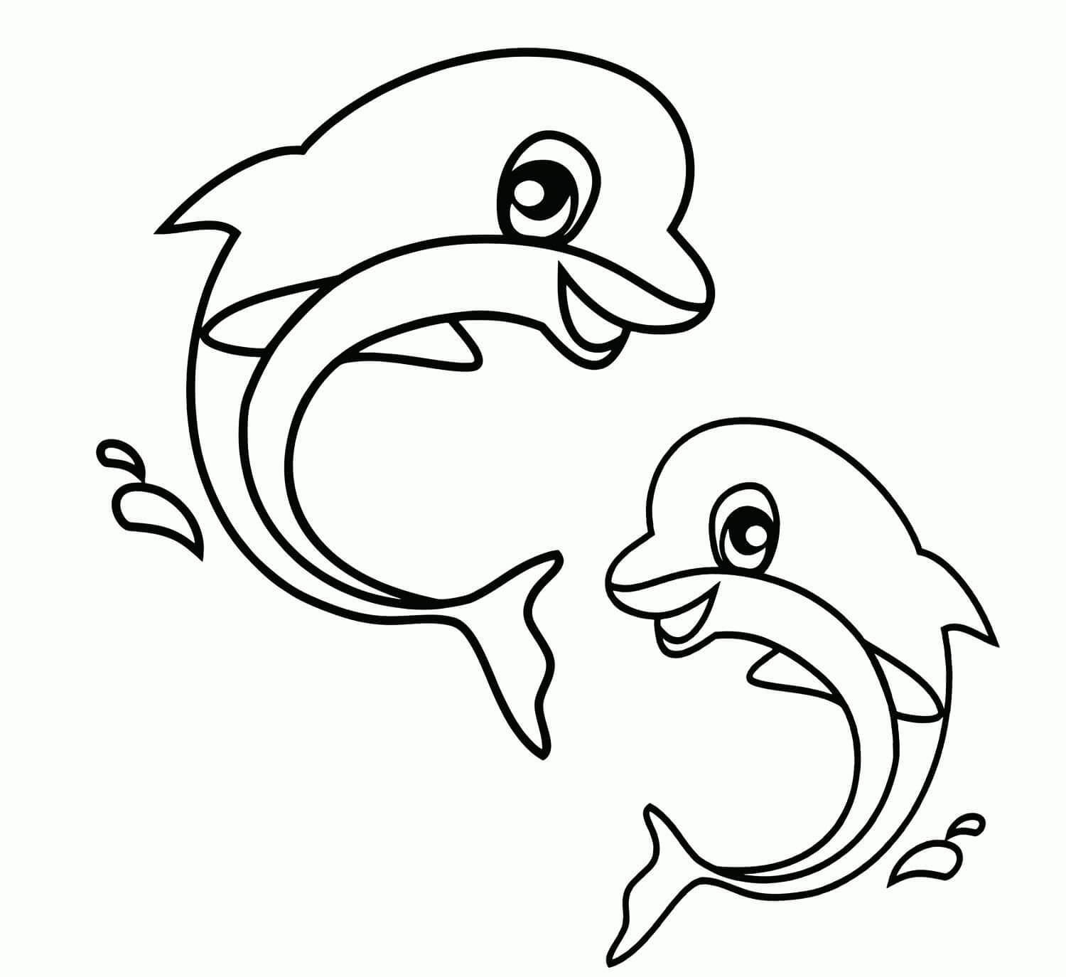 Nature and Wildlife-Animal Coloring Pages for Kids Dolphins of The Ocean