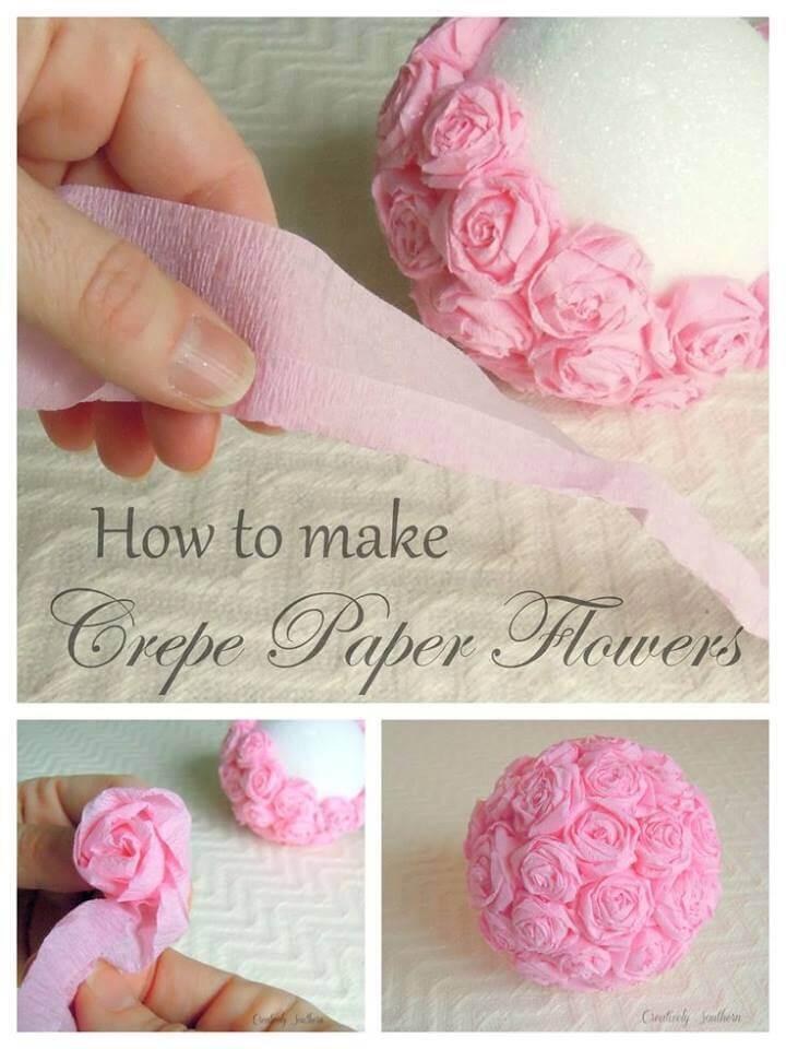 Crepe Paper Flowers Craft