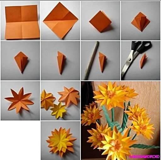 Orange Flowers Bouquet Craft