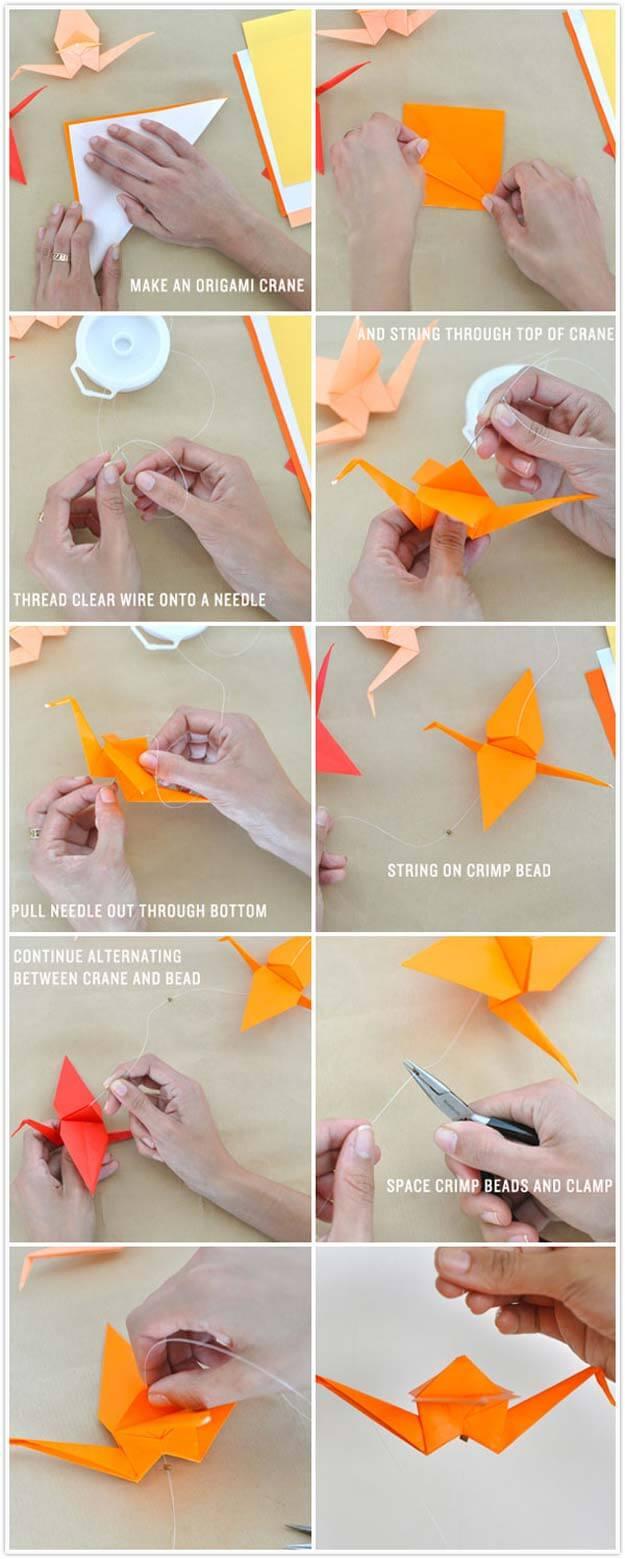 Make an origami crane