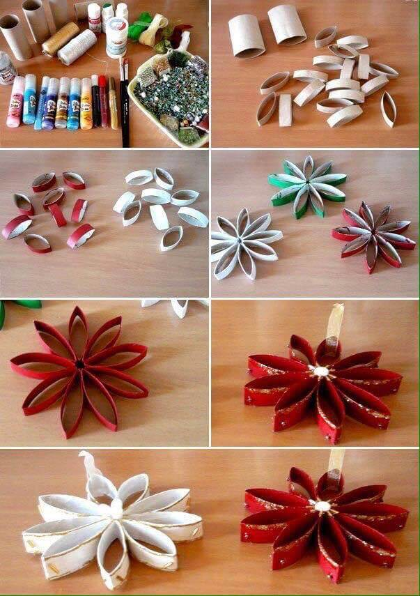 Recycled Craft Idea - Toilet Paper Roll Flowers