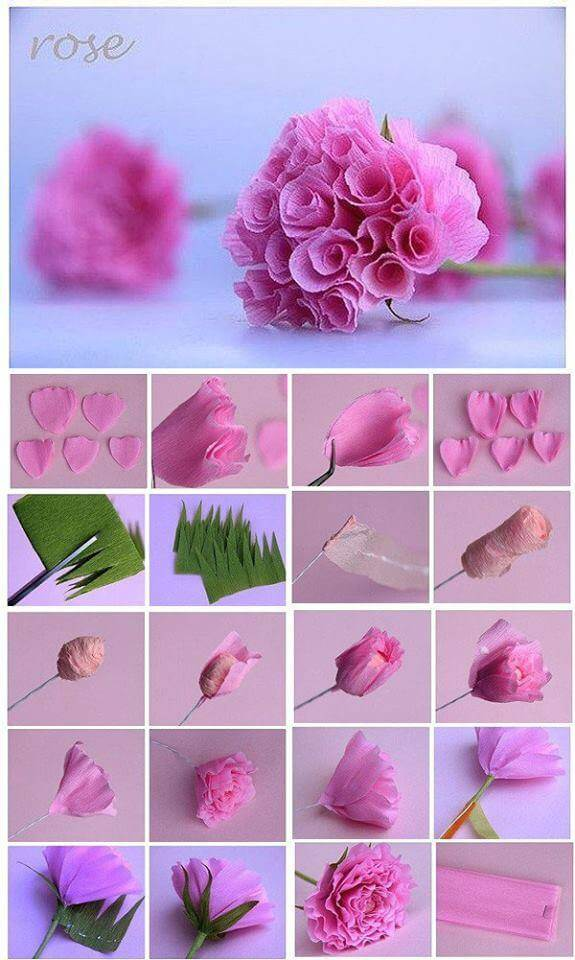 Paper roses for pink times