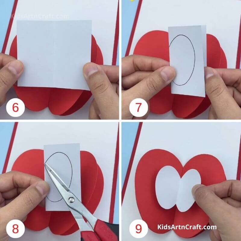 How to Make 3D Apple Paper Card for Sister Step by Step Instructions Easy Tutorial
