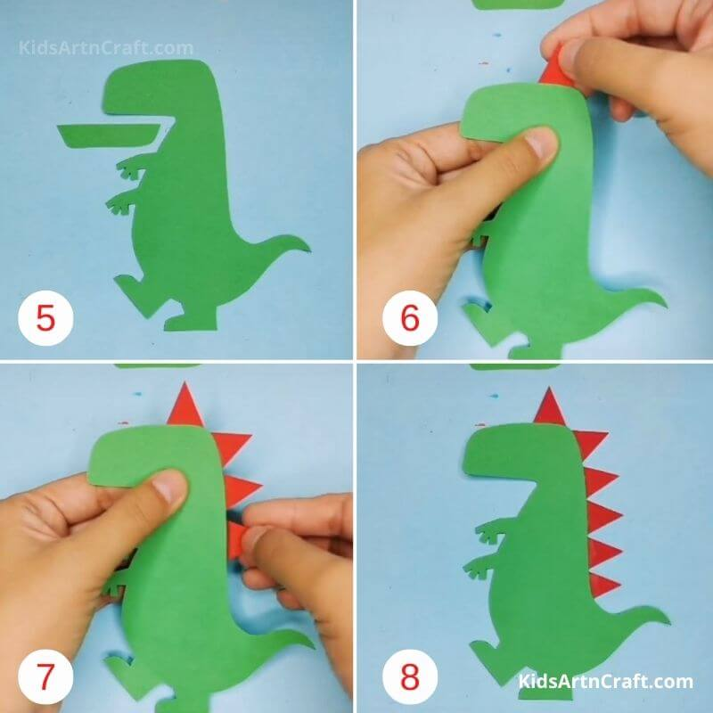 How to Make Paper Dinasur Step by Step Instructions Easy Tutorial