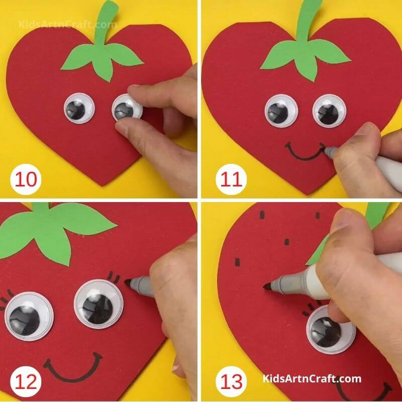 How to Make Paper Strawberry Step by Step Instructions Easy Tutorial