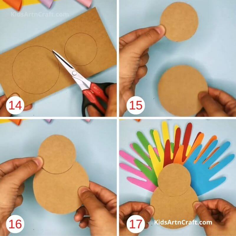 18. How to Make Paper Craft Turkey for Thanksgiving Step by Step Instructions Easy Tutorial