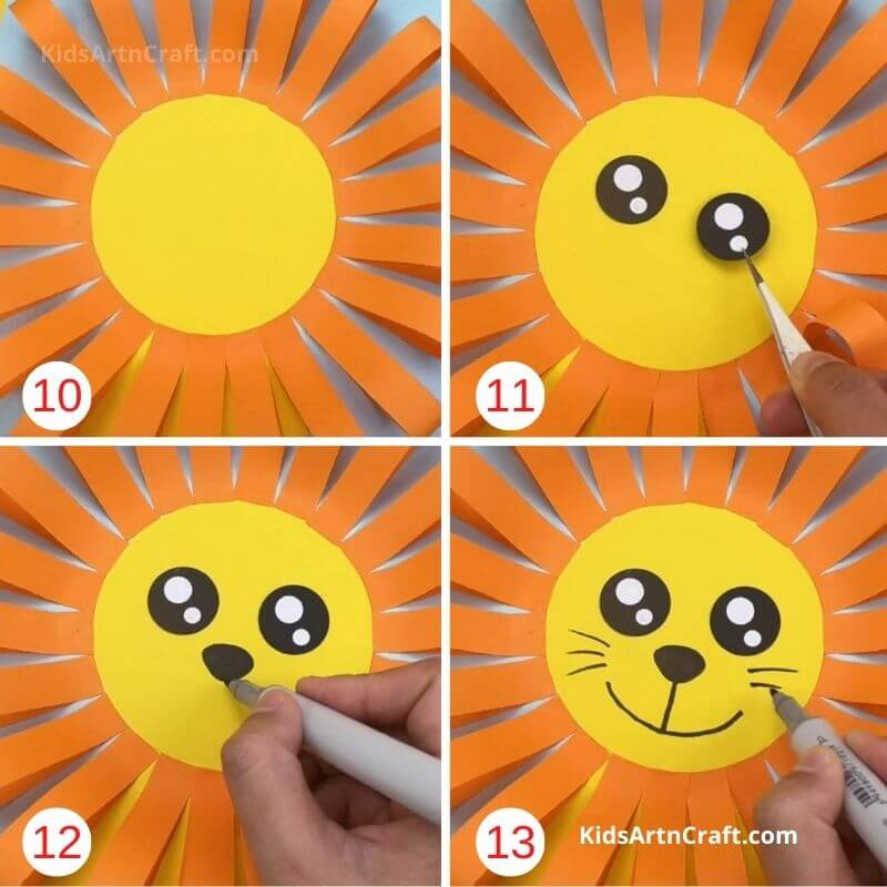 How to Make Paper Lion Craft Step by Step Instructions Easy Tutorial